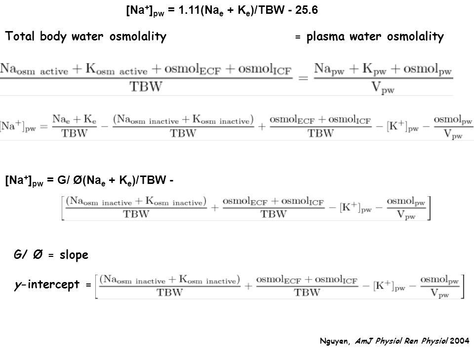 [Na+]pw = 1.11(Nae + Ke)/TBW - 25.6